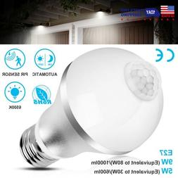 E27 Indoor/Outdoor Motion Sensor Light Bulb Auto On/Off LED