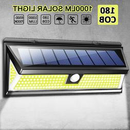 Kcasa 1000LM 180pc COB LED Solar Wall Light Outdoor Security