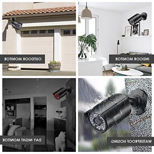 "ZOSI 1/3"" 4.6mm IR Cut Security Camera Surveillance Day Night Vision System"