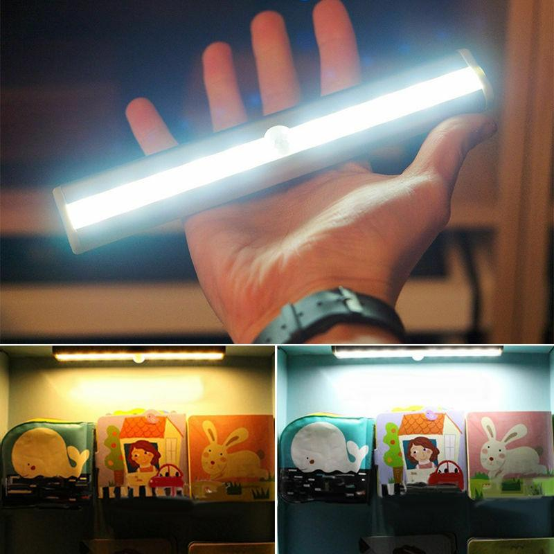10 led light bar battery operated wireless