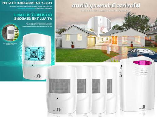 1000ft wireless home security alarm system driveway