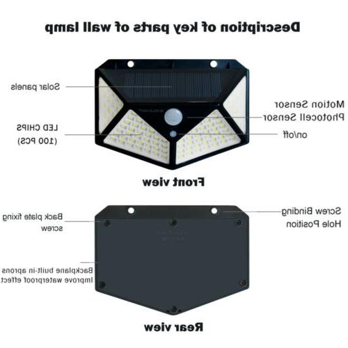 2 LED Lights Outdoor Wireless Motion Sensor Lamp