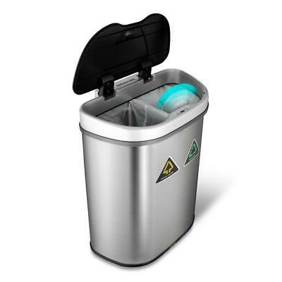 18.5 gal. Motion Sensor Recycling Bin Trash Can Container Au
