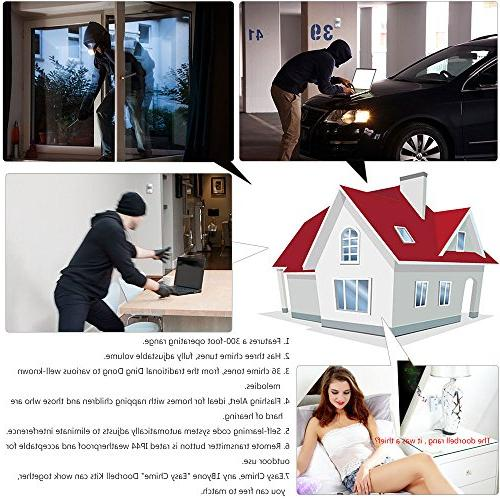 1byone Wireless Home Driveway Alarm, 1 Receiver and Motion Sensor Alert System Melodies to Choose