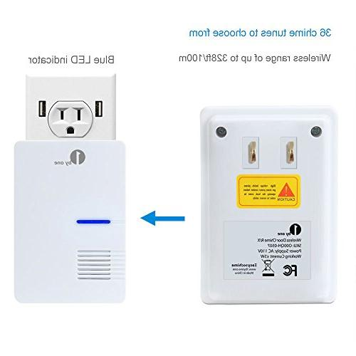 1byone Wireless Receiver 1 Motion Detector Alert 36 Melodies to