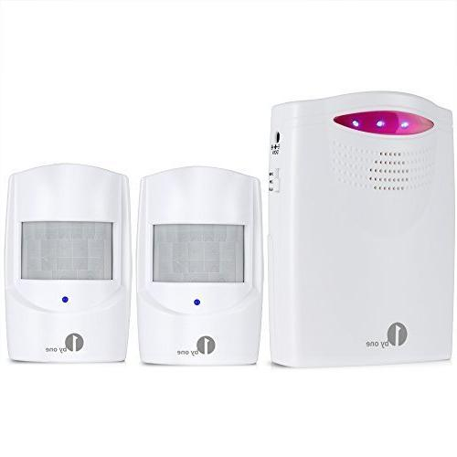 1byone wireless home security driveway alarm battery operate