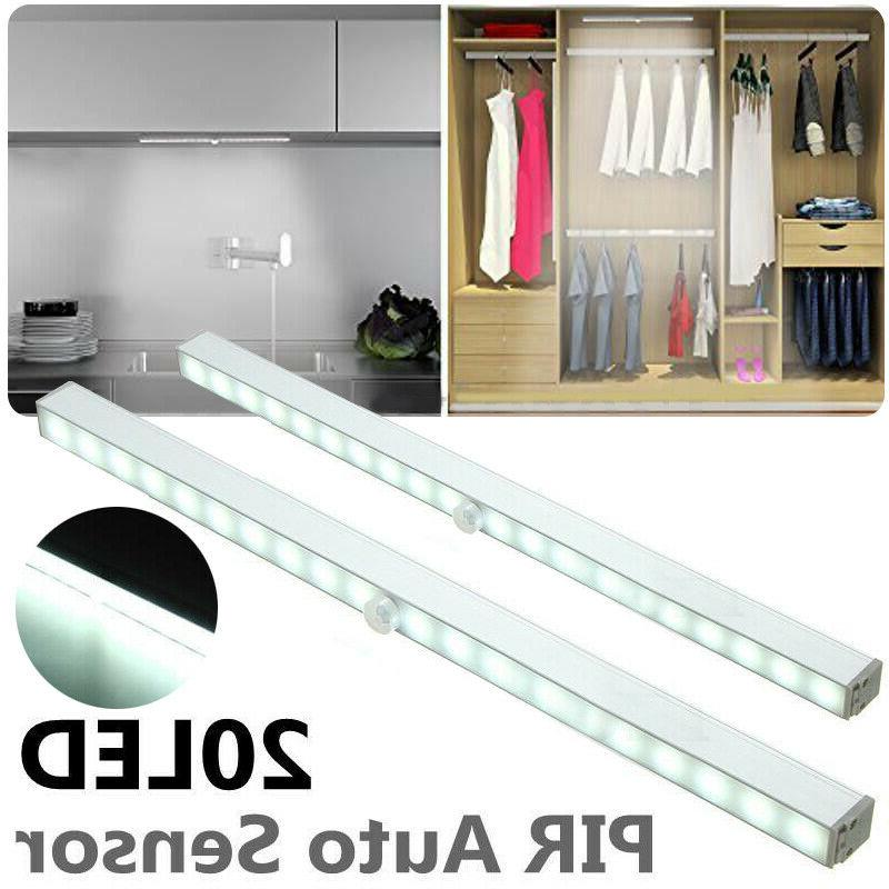 20 LED Motion Sensor Wireless Battery Power Closet Lamps Cab