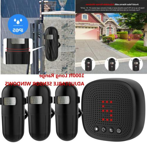 1000ft Home Wireless Driveway Alarm Outdoor Motion Sensor Detector IP65