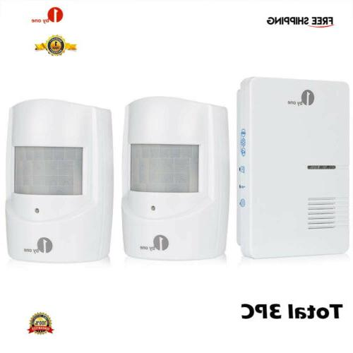 3pc wireless driveway alert alarm system infrared