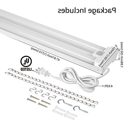 4ft Linkable Utility Shop Light, 40W  Energy Star Listed,5000K Daylight, Garage/Basement/Workshop