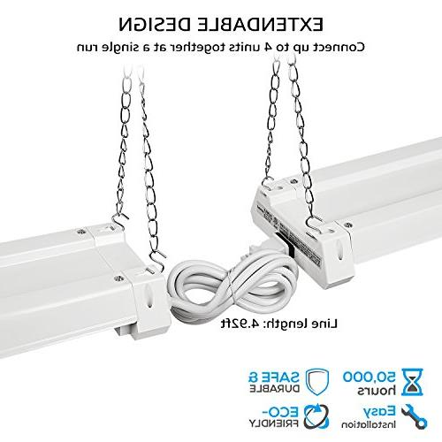 4ft Linkable LED Motion Utility Shop LED Fixture, Energy ETL Listed,5000K Daylight,