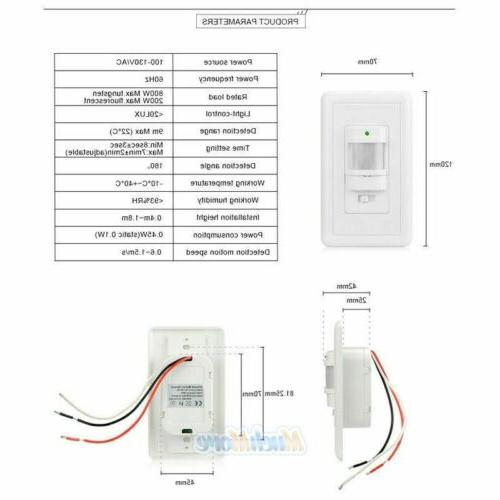 5 Pack Occupancy Light Switch On/Off Infrared