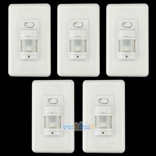 5 pack automatic pir occupancy motion sensor