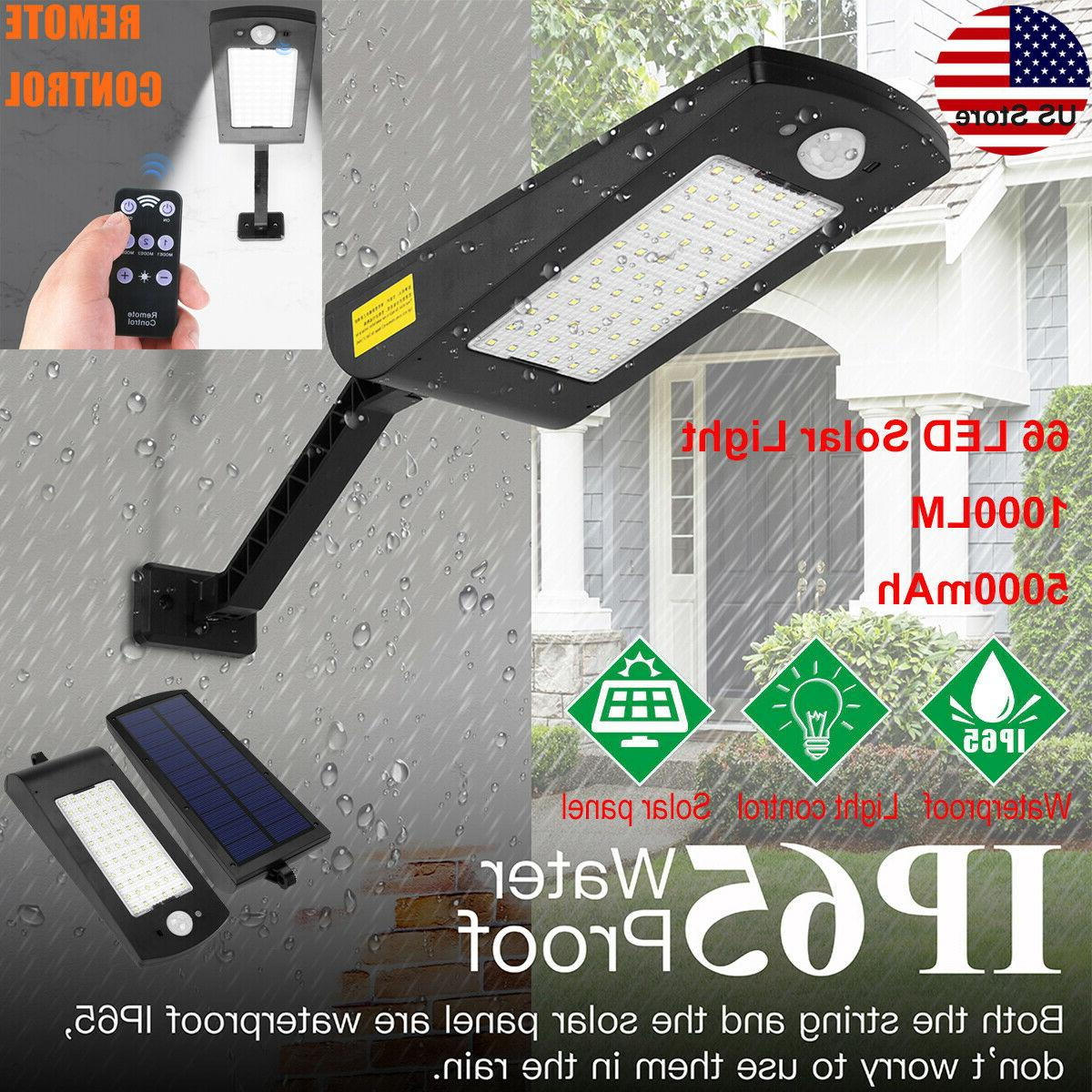 66 led solar power motion sensor light