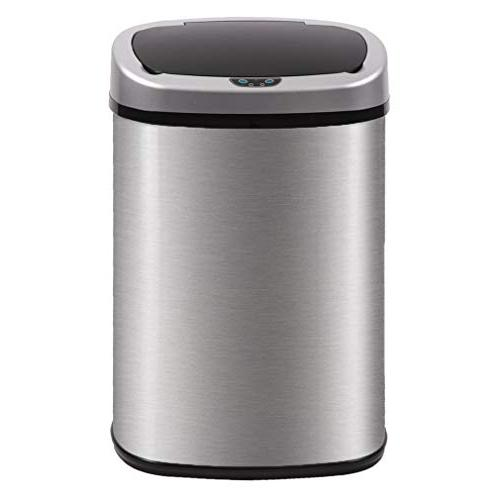 BestOffice Automatic Kitchen Trash Can Brushed Stainless Ste