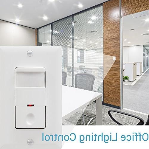 Switch, In Wall Sensor Switch, Switch 500W LED 1/8HP, Wall Included, Wire Required, TDOS5, White, 2 Pack