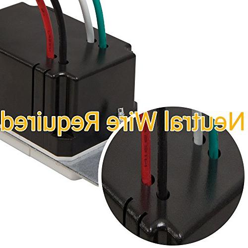 Switch, In Wall Switch, Occupancy 500W CFL 1/8HP, Wall Wire TDOS5, 2 Pack