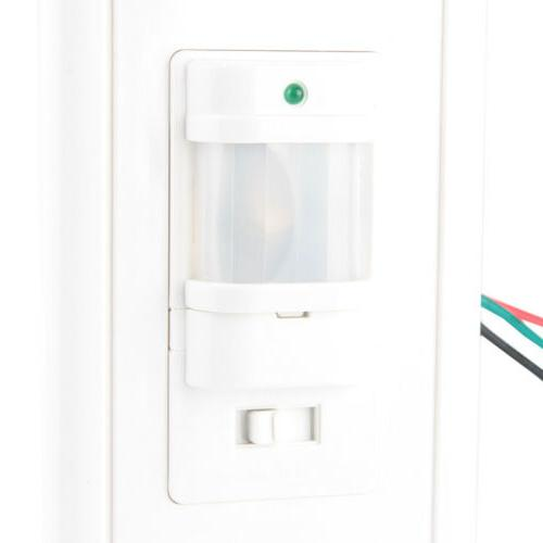 AC 110V Motion Sensor Switch Detector Infrared Wall White