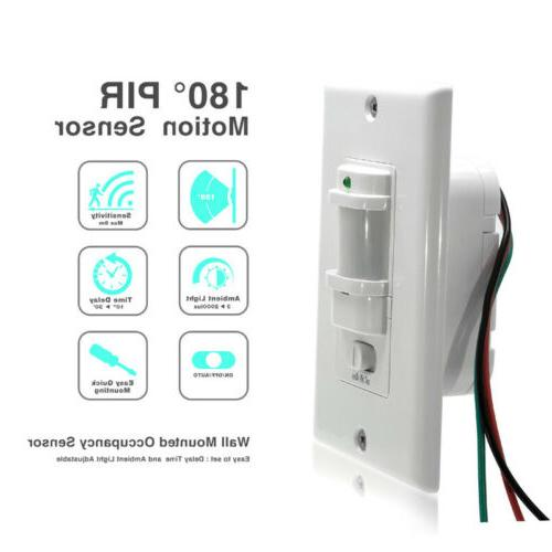 ac 110v pir motion sensor light switch