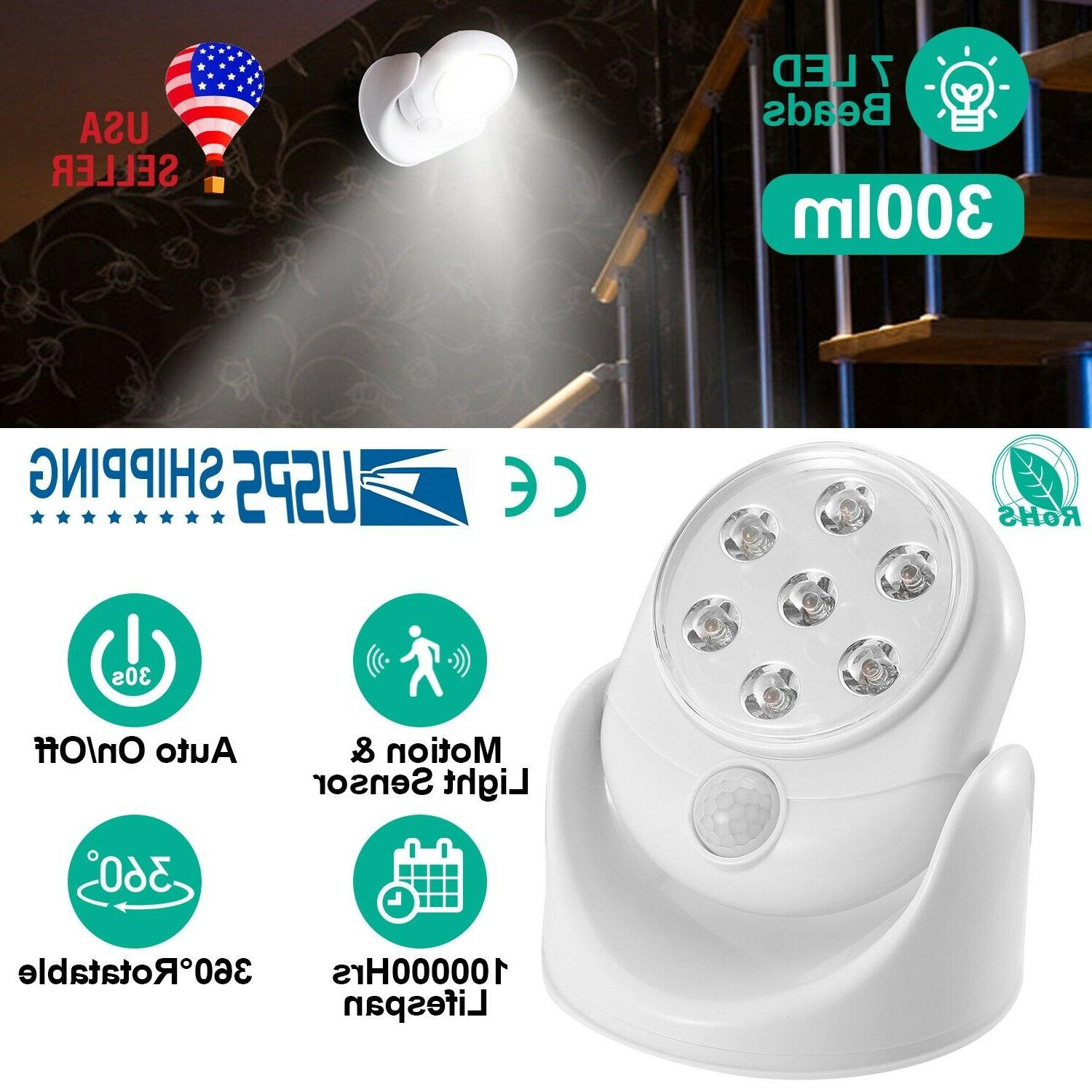 Adjustable LED Motion Light Activated Sensor Indoor Outdoor