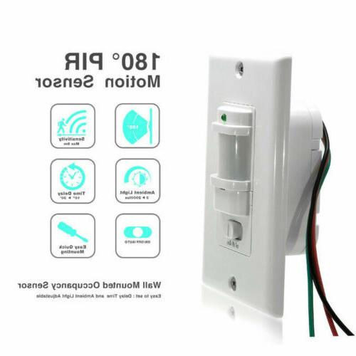 Auto Infrared Occupancy Vacancy Wall Lamp Switch