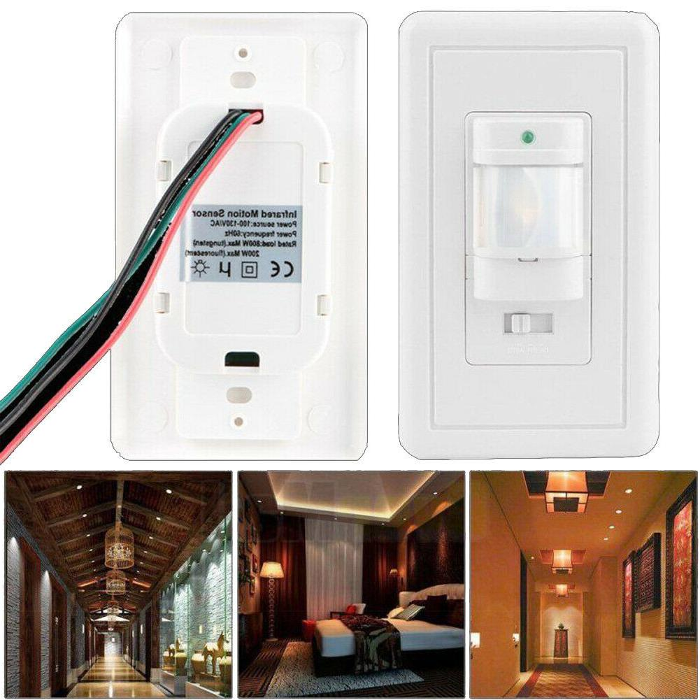 Body Infrared Motion Sensor Switch Detector Wall Mount LED L
