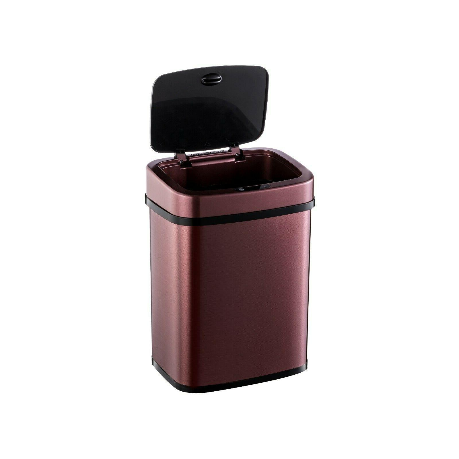 Automatic Touchless Motion Sensor Trash Can gal liters
