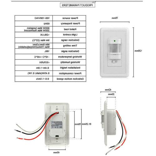 Body Switch Detector Wall LED Light Control
