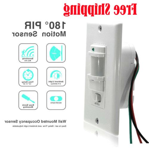 body infrared motion sensor switch detector wall