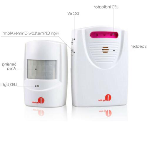 1Byone Wireless Alarm Chime Alert System 2 Receiver