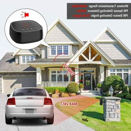 2020 New 1000ft Range Wireless Alert Motion Sensor Detector