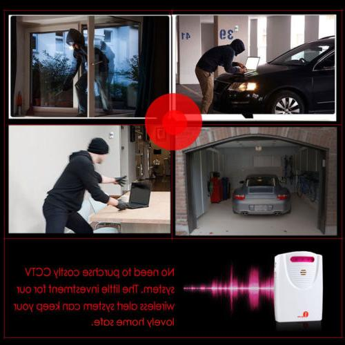 Wireless Long Driveway Alarm Detector Security Aler