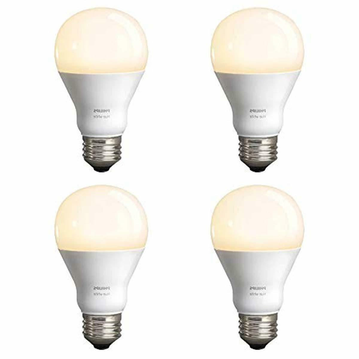 Philips White A19 4-Pack LED Smart