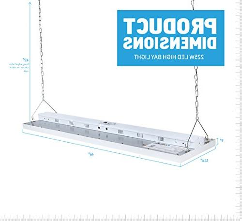 Parmida High Bay Shop Light, 225W 0-10V Dimmable, UL & 4.2, Lighting, Included
