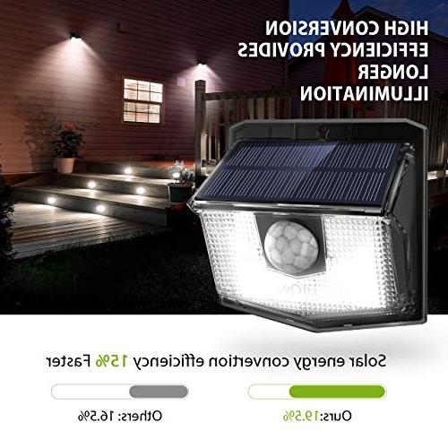 LITOM Solar Easy to Sensor with Wide Angle, Solar For Front Yard, Garden,