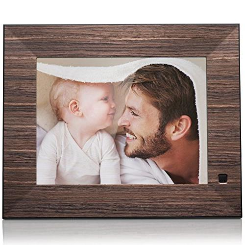 Frame inch X08F, Wood. Electronic Photo USB SD/SDHC. Frame Control USB Included