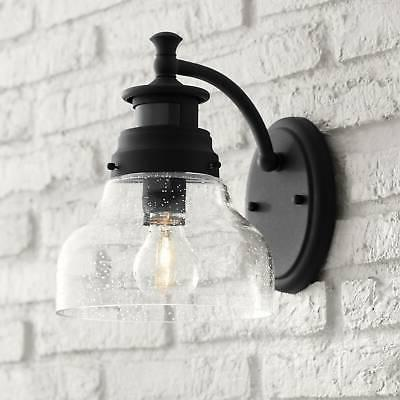 Modern Outdoor Wall Light Fixture Black 10 Motion Sensor For House Porch Patio