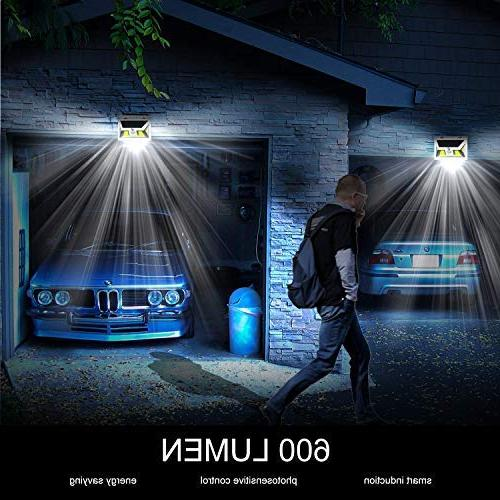 Solar Motion JUSLIT COB Solar Outdoor, Light with Night Diming Mode, Waterproof 270° Wide Detector Garage Porch