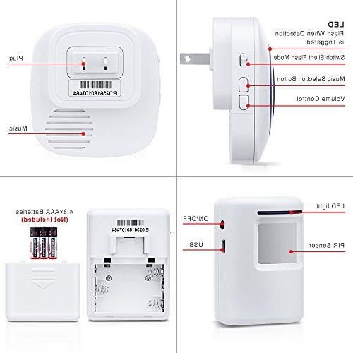 WONYERED Motion Sensor Wireless Alarm Home Security Alarm with and Sensor 38 Chime Home Systems