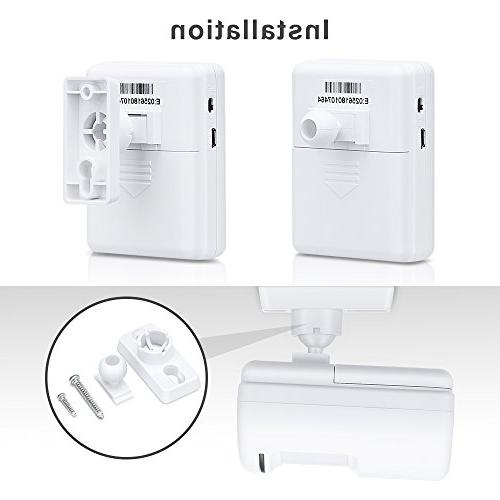 WONYERED Motion Wireless Shop Alarm Security Alarm and 2 Sensor 38 Chime Tunes Systems