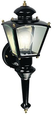 Motion Sensor Glass Exterior Outdoor Lantern Wall Light Fixt