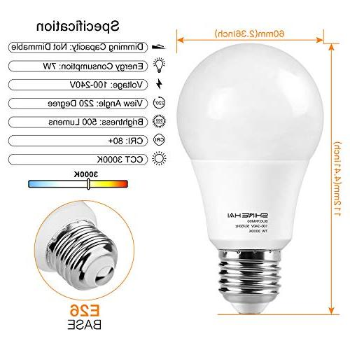 Motion Light 7W Dusk to Dawn Smart Bulbs Base, White 3000K Night Auto for Porch Garage