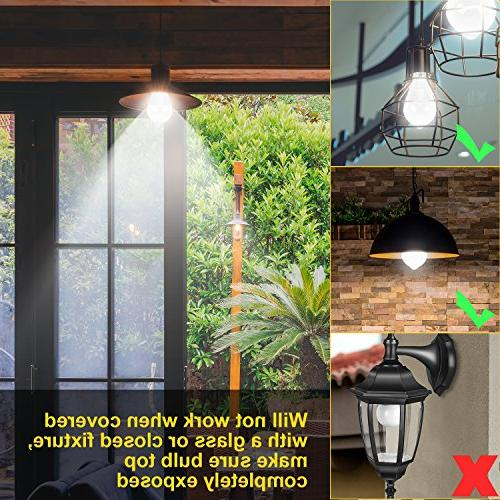 Motion Aukora E26 Activated Dusk Security Light Bulb Outdoor/Indoor for Porch Garage Basement