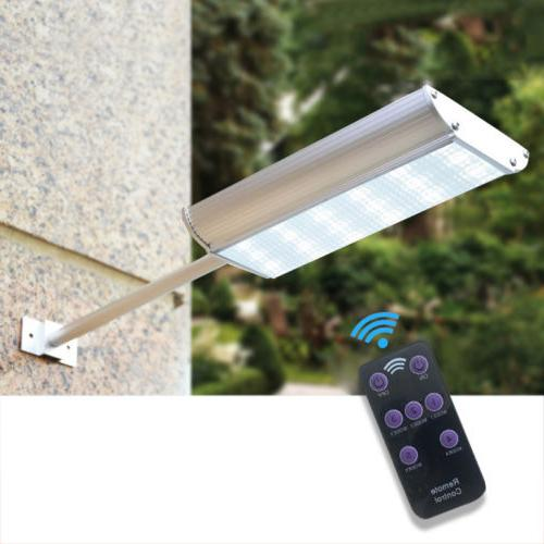 NEW Solar LED Motion Sensor Garden Path Wall Lamp
