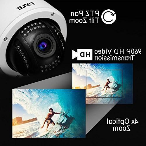 Outdoor IP Zoom - 960p Weatherproof Wireless WiFi ONVIF Video - Outside PTZ Tilt Dome 4X for iOS and - Pyle PIPCAMHD46
