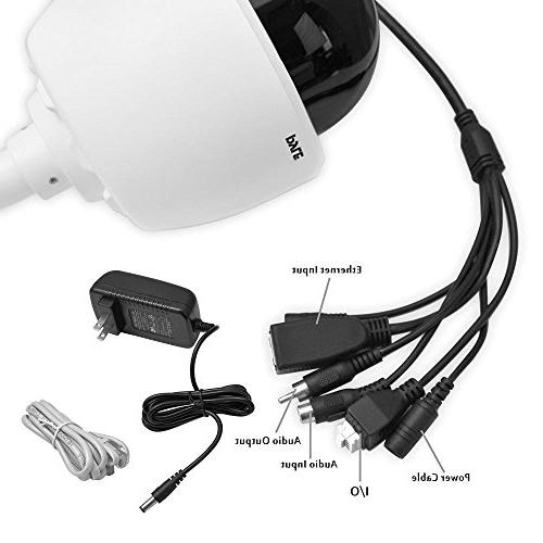 Outdoor Camera Zoom - Weatherproof ONVIF - Outside PTZ 4X for iOS Pyle PIPCAMHD46