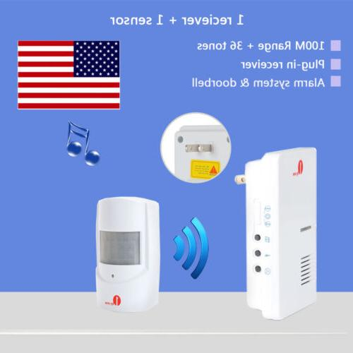 security infrared driveway wireless motion outdoor alarm
