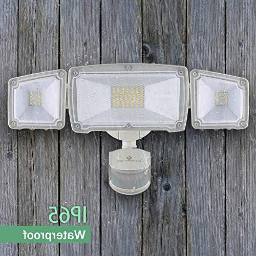 GLORIOUS-LITE Light, Motion Light Outdoor, & ETL 5500K, 3 Adjustable Security for Yard, &