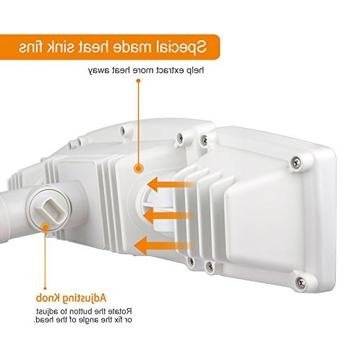 LEPOWER 3500LM Light, 39W Outdoor Motion Sensor Light, 6000K, Adjustable Heads Light for Entryways, and Garage