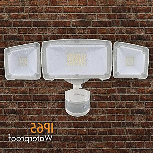 LEPOWER Light, 39W Bright Outdoor Motion 6000K, IP65 Adjustable Certified Activated Light for and